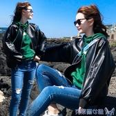 皮衣女寬鬆外套2019春秋新款bf風PU皮棒球服韓版學生帥氣皮夾克潮 交換禮物