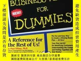 二手書博民逛書店BUSINESS罕見PLANS FOR DUMMIESY319416 BUSINESS PLANS FOR D