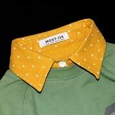 假領子襯衫穿搭領片磨毛秋冬款星星領片  大學T針織衫外套洋裝 長大衣[E1281] 預購.朵曼堤洋行