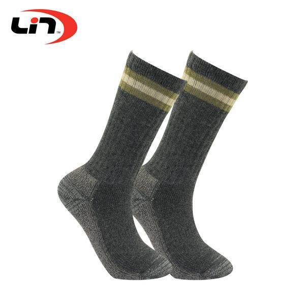 LIN OUTDOOR 登山襪 運動襪 MIT 銀纖維混紡羊毛登山襪