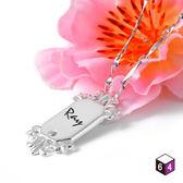 刻字純銀墬 戀愛魔鏡-64DESIGN銀飾訂製(不含鍊)