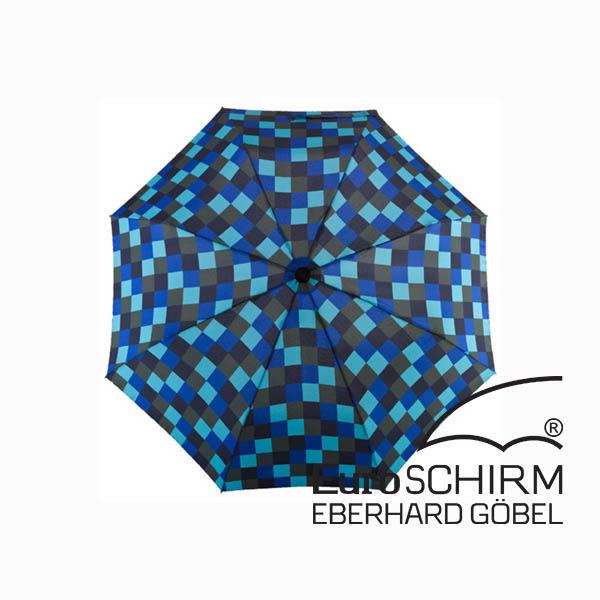 [EuroSCHIRM] 行走免提徒步傘 大 - 方格/深藍 (W2H6-CWS1)
