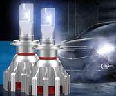 汽車led大燈 h7h1H4遠近光一體聚光前照LED汽車燈酷冷系2只裝 時尚教主