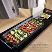電燒烤爐韓式家用不黏電烤爐無煙烤肉機電烤盤鐵板烤肉鍋 IGO