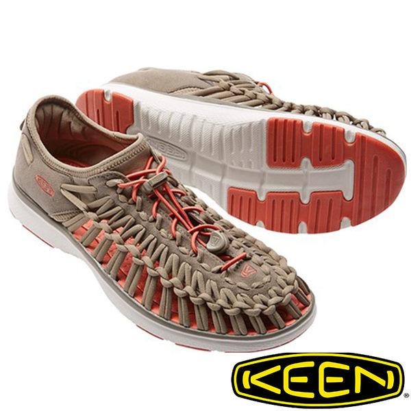 【KEEN 美國】UNEEK O2男拉繩涼鞋『淺咖啡/橘』1016906 水陸兩用鞋|自行車|溯溪|健走