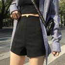 短褲女 夏季 高腰 外穿 網紅顯瘦 打底褲 闊腿褲 熱褲 小個子 緊身 黑色褲子
