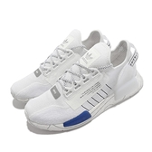 adidas 休閒鞋 NMD_R1 V2 白 藍 反光 愛迪達 三葉草 BOOST 男鞋 【ACS】 GX0544