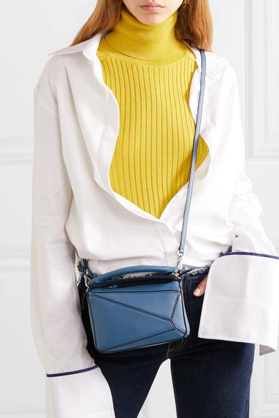 ■專櫃8折■2019新品 ■全新真品Loewe 羅威 迷你 Puzzle 兩用肩背包 藍色