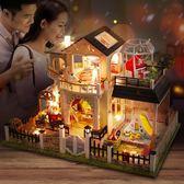 diy小屋小房子模型手工拼裝玩具中國風禮物【步行者戶外生活館】