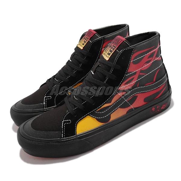 Vans 休閒鞋 Sk8-Hi 138 Decon 黑 火焰 Drag Board 聯名 男鞋【ACS】 VN0A3MV112M