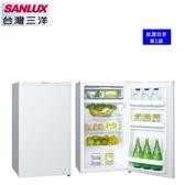 【SANLUX台灣三洋】97L 定頻單門電冰箱 能源效率1級《SR-C97A1》 (珍珠白)*含運配送服務