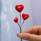 日本進口,大地農園,愛心珍珠插,一支3個愛心