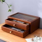 首飾盒女木質首飾收納盒手飾耳環飾品盒收納盒【極簡生活】