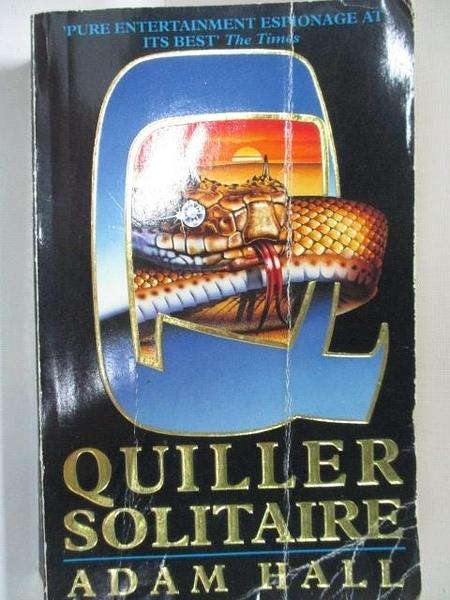 【書寶二手書T2/原文小說_A35】Quiller Solitaire_Adam Hall
