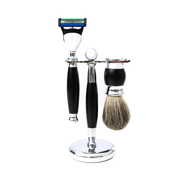 五刀式刮鬍刀豪華禮盒四件組 - 極致黑 生日禮物 情人節禮物 聖誕節禮物