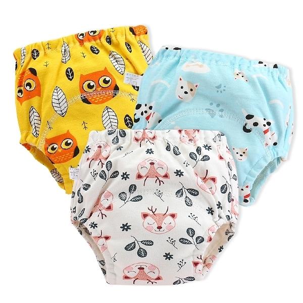 學習褲 6層紗嬰兒尿布褲 吸水隔尿褲訓練褲 -JoyBaby