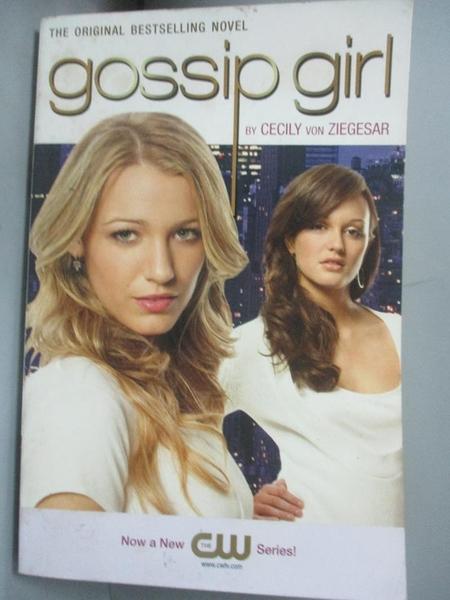 【書寶二手書T1/原文小說_LDP】Gossip Girl_Von Ziegesar