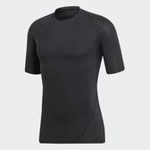ADIDAS ALPHASKIN 男裝 短袖 慢跑 訓練 緊身 涼感 透氣 黑【運動世界】CF7171