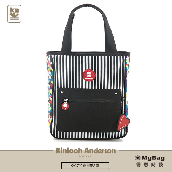 Kinloch Anderson 金安德森 肩背包 夏日蒙太奇 直立式托特購物包(小款)  繽紛碎花 KA174009 得意時袋