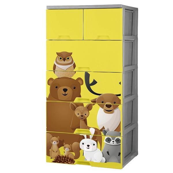 【HOUSE喵】KD森林家族收納櫃五層-無輪(2小抽+4大抽)