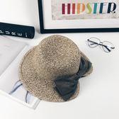 海灘帽 帽子女夏天時尚蝴蝶結草帽度假防曬帽沙灘帽海邊太陽帽女韓版潮 芭蕾朵朵