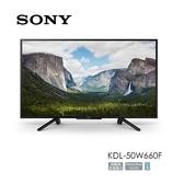 專櫃展示品 SONY KDL-50W660F HDR 高動態對比 Youtube、Netflix 支援 含基本桌上安裝 原廠24個月保固