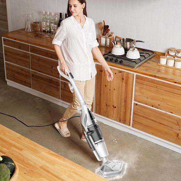 德爾瑪蒸汽拖把拖地機擦地機掃地吸塵器二合一電動拖把家用小型 享購 igo 220v