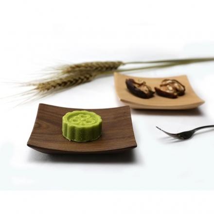 【天然原木作】閒情逸事和風角盤/餐盤/木盤/餐具 核桃木