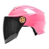 頭盔男女防曬電動摩托機車助力車半覆式防紫外線遮陽安全帽