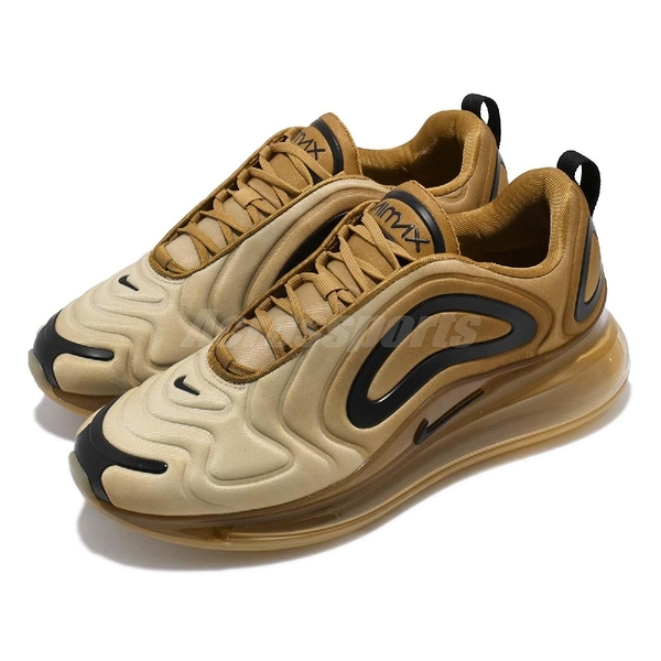 Nike Air Max 720 Desert 慢跑鞋 咖啡 金 黑 漸層 大氣墊 運動鞋 男鞋【PUMP306】 AO2924-700