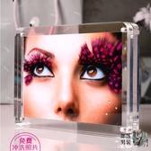 壓克力相框 6 7 8寸壓克力相框創意雙面透明A4證書獎狀框照片擺台相框