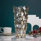 輕奢琉光水晶玻璃花瓶客廳樣板間酒店插花裝...