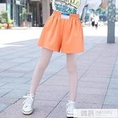 女童寬鬆洋氣短褲兒童2021夏季外穿薄款五分褲中大童休閒運動褲子 萬聖節狂歡