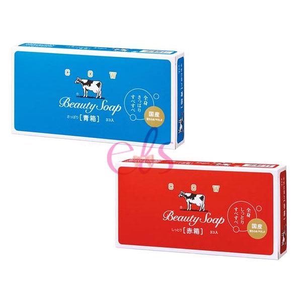牛乳石鹼 COW 牛乳香皂 3入裝 玫瑰滋潤型/茉莉清爽型 兩款供選 艾莉莎ELS