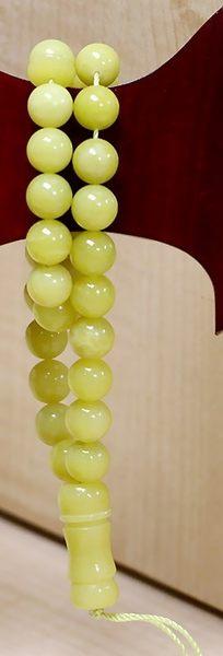 [協貿國際]天然檸檬石33顆念珠單個價
