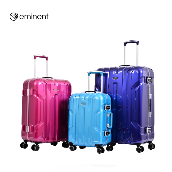 萬國通路 Eminent 雅仕 雷斯特 GOLD 輕量 亮面 PC 細鋁框 旅行箱 28吋 行李箱 暗岩藍 9L6