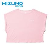 MIZUNO 女裝 短袖 1906 休閒 時尚 舒適 素面 粉【運動世界】D2TA920664