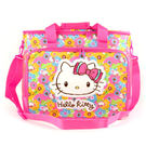 Hello Kitty波士頓袋 繽紛花漾方形大容量野餐波士頓袋附背帶/側背包/野餐包/野餐/戲水 [喜愛屋]