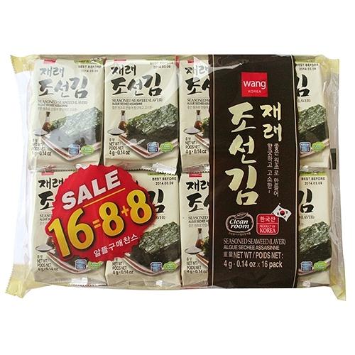王家府韓國傳統海苔麻油風味64G【愛買】