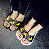 拖鞋 黑白小怪獸情侶拖鞋 MA女鞋  C1026
