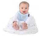 紐西蘭 Mum 2 Mum 機能型神奇口水巾圍兜-初生款-粉藍 吃飯衣 口水衣 防水衣