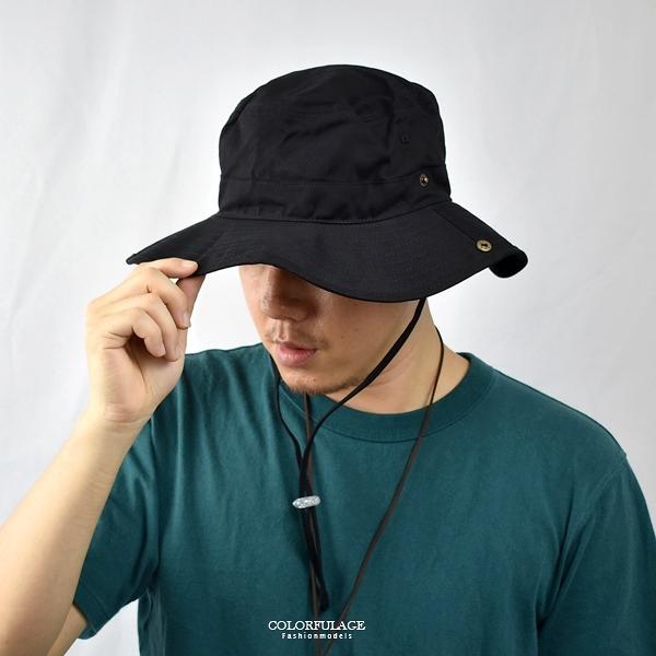 漁夫帽 素面復古拉繩牛仔帽NHD58