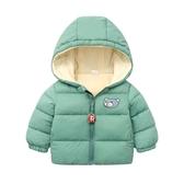 秋冬裝兒童加絨棉衣嬰兒羽絨棉服男女童加厚寶寶小童棉襖