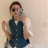 夏季薄款背心Lisa同款牛仔小眾馬甲上衣女士網紅潮流外穿馬夾外套 快意購物網