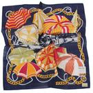 TRUSSARDI 艷陽夏日風情帕巾(藍)989045-28