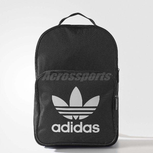 愛迪達 adidas Classic Trefoil Backpack 黑 白 三葉草 雙肩 黑 白 基本款 後背包【PUMP306】 BK6723