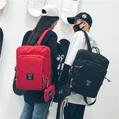 筆電包後背包女韓版潮簡約大學生高中學生筆電書包男大容量帆布旅行背包