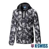 【超取】K-SWISS Nightsky Printed Jacket防風外套-男-黑白