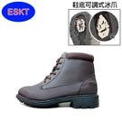 ESKT 男短筒雪鞋SN210/城市綠洲 (雪靴 防潑水 防雪 刷毛 麂皮 冰爪)