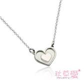 《 SilverFly銀火蟲銀飾 》秋草愛-漫天心辰系列-純銀刻字項鍊-小愛心